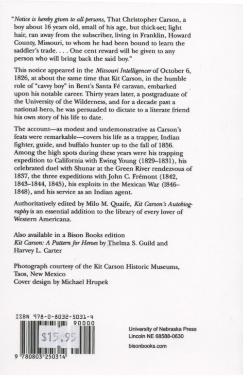 kit carson and the indians essay Kit carson a key member of fremont's crew was kit carson, who accompanied him on his first three expeditions carson's life exhibited the life of a mountain man his first two wives were arapaho and cheyenne indian he spoke spanish and five indian languages despite his marriage to indians, he fought against navajo in new mexico during the.